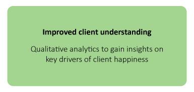 Improved client understanding