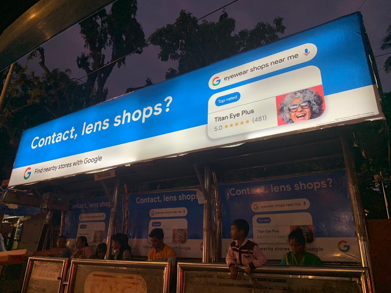 Google-Titan Eye Plus Bus Stop Ad